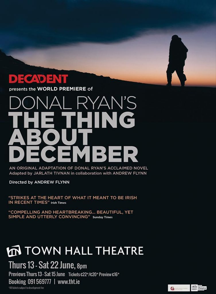 The Thing About December - Donal Ryan - Decadent Theatre Company - Official Posterjpg