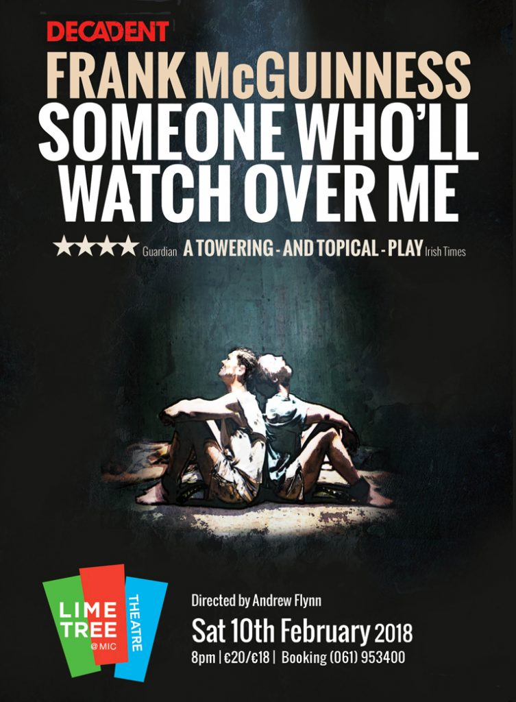 Someone Who'll Watch Over Me poster from Decadent's production